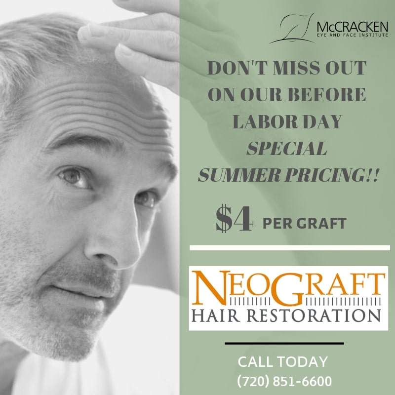 summer pricing procedures neo graft Dr mccrackenmd