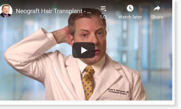 Thumbnail of a Neograft Hair Transplant – What is the Recovery Time video - click to see