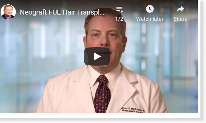 Thumbnail of a Neograft FUE Hair Transplant – When Will Hair Grow Back? video - click to see