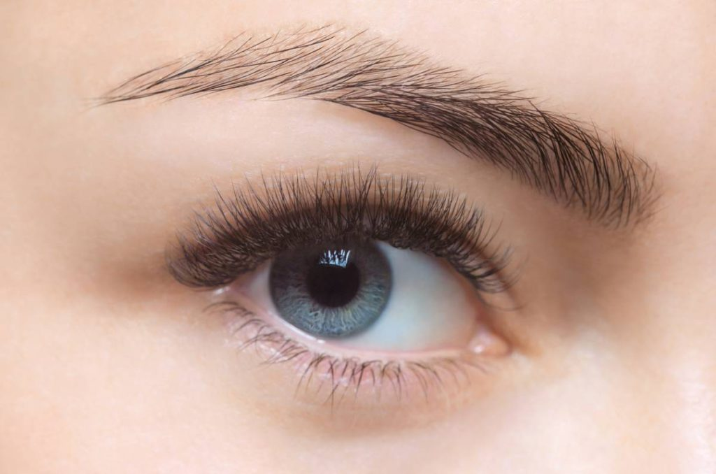 Woman who has good results from her eyelid surgery.